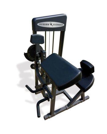 Aparat biceps și triceps Vision Fitness complet recondiționat, ideal atât pentru cluburi și săli de fitness, cât și pentru uz personal. FlexFit